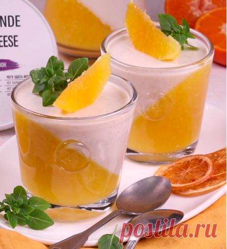 De naranja panakota