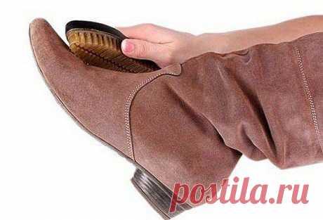 Обувь из замши -уход