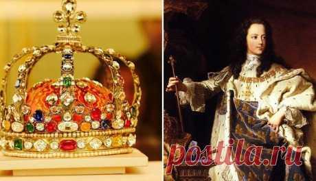 Бесценная корона Людовика XV: история самого красивого бриллианта в мире | Чёрт побери Эта корона, признанная одной из самых великолепных в мире, была изготовлена для коронации 12-летнего Людовика XV, вступившего на престол Франции в 1722 году. Чудом уцелела она во времена французской революции, когда почти все атрибуты монаршей власти были уничтожены. Однако, два знаменитых бриллианта с нее были сняты и проданы, а на их место вставлены кристаллы. Сейчас эта замечательная ...