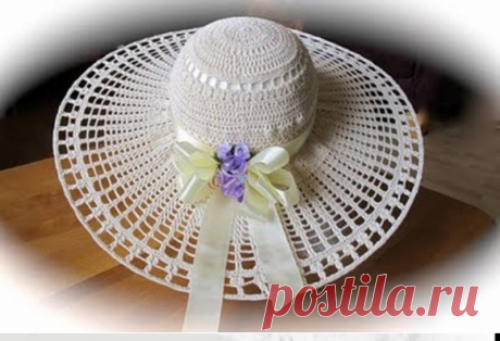 Само изящество - невесомые летние шляпки крючком   Левреткоман-оч.умелец   Яндекс Дзен