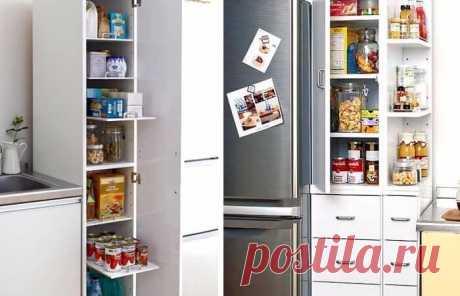 ИСПОЛЬЗОВАНИЕ МЕСТА У ХОЛОДИЛЬНИКА | Тысяча и одна идея Идеи для маленькой кухни: используем место у холодильника. Каждой хозяйке хочется, чтобы пространство на кухне было удобно организовано: так, чтобы все было под рукой. На маленькой кухне задача организации рабочего места тесно переплетается с проблемой хранения всей нужной утвари. Предлагаем вам полезные идеи для маленькой кухни, в которых показано как практично можно использовать небольшое пространство между мойкой и холодильником.