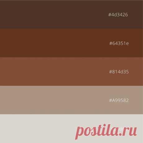 Благородные коричневые оттенки  От светлого коричневого до темного шоколадного. Коллаж с фото и палитра с кодами, которую можно скачать бесплатно.  #вдохновениецветом #кодцвета #сочетаниецветов #идеядлядизайна #цветоваясхема #пастель #пастельныеоттенки #colorinspiration #colorcode #colorcombination #designidea #colorscheme #pastels #softpastels #pastelstyle #pastelshades