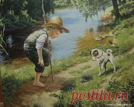 Милое детство в полотнах белорусского художника Владислава Леоновича