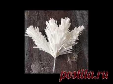 Мастер класс «Еловые лапы из вафельной бумаги» Вафельная бумага