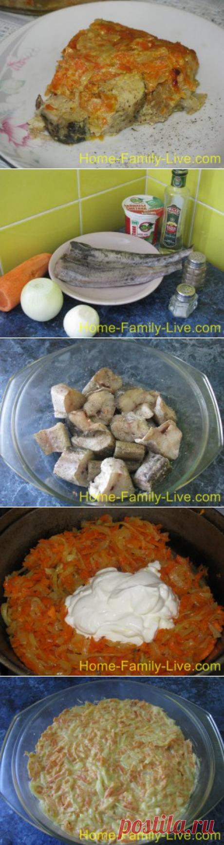 Минтай в сметане/Сайт с пошаговыми рецептами с фото для тех кто любит готовить