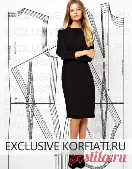 ¡El patrón-base del vestido para skachivaniya de A.¡Korfiati Invitamos a bajar el patrón-base del vestido a 5 dimensiones! También además del vestido, bajaréis el patrón odnoshovnogo las mangas, que es elaborada también a 5 dimensiones. Todo que a usted se quedará – desellar el patrón. El Patrón-base del vestido para skachivaniya.