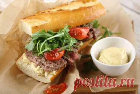 Жареный сэндвич с говядиной – пошаговый рецепт с фото.