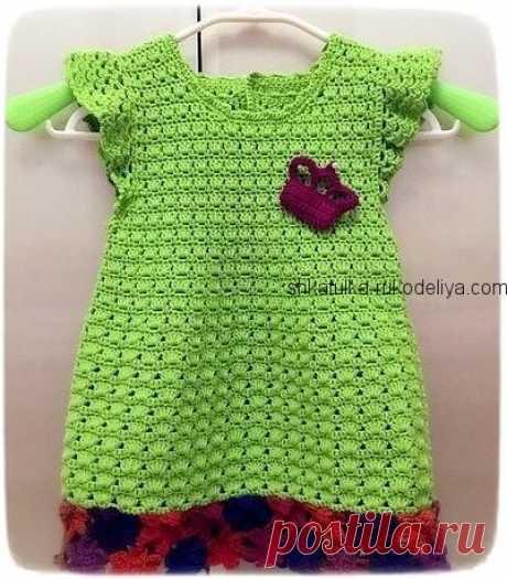 Детское платье крючком 2020. Платье для девочки крючком со схемами   Шкатулка рукоделия. Сайт для рукодельниц.