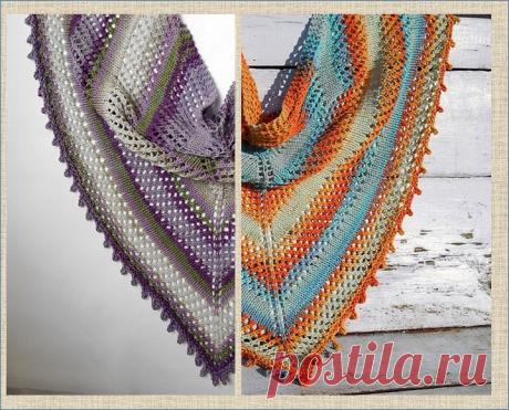 5 моделей великолепных шалей связанных спицами - с фото и описанием | МНЕ ИНТЕРЕСНО | Яндекс Дзен