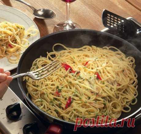 Спагетти с чесноком