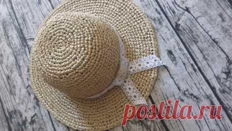 Как связать шляпу крючком   Блог Чемезовой Ольги