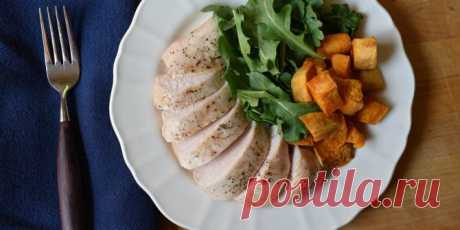Fasting day for weight loss on chicken meat