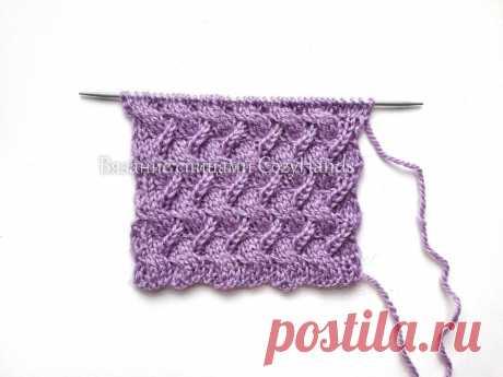 Оригинальная плетенка спицами для вязания шапок, варежек, свитеров | Вязание спицами CozyHands | Яндекс Дзен