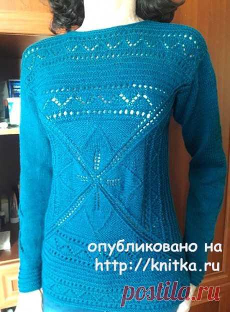 Пуловер спицами Легкий шарм. Работа Марины Ефименко, Вязание для женщин