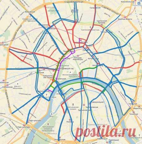 Общественный транспорт возвращается в центр Москвы: выделенные полосы и новые остановки   TR.ru — Транспорт в России