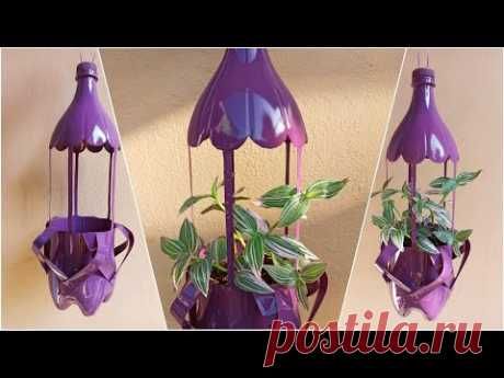 CREATIVE WAY ON HOW TO MAKE HANGING POT FROM PLASTIC BOTTLE