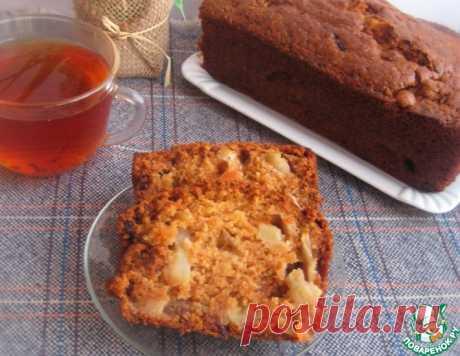 Манный кекс с изюмом и яблоками – кулинарный рецепт