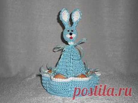 Вяжем пасхального зайчика — забавную подставку для яиц - Ярмарка Мастеров - ручная работа, handmade