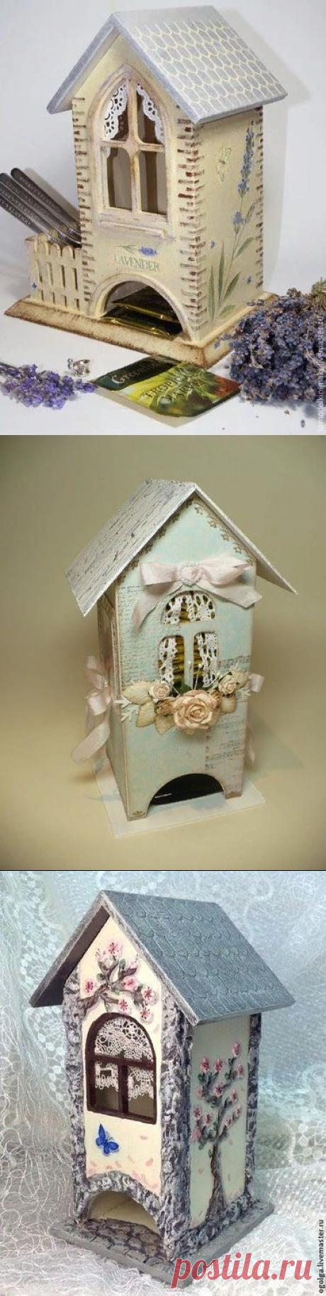« Домик для хранения чайных пакетиков с забором » — карточка пользователя fffainafruza f. в Яндекс.Коллекциях