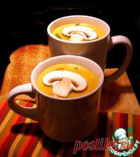 Cуп-пюре пшённый с грибами - кулинарный рецепт