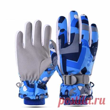 Wheel up 1 pair children gloves full finger winter warm boy girl breathable lightweight riding gloves Sale - Banggood.com