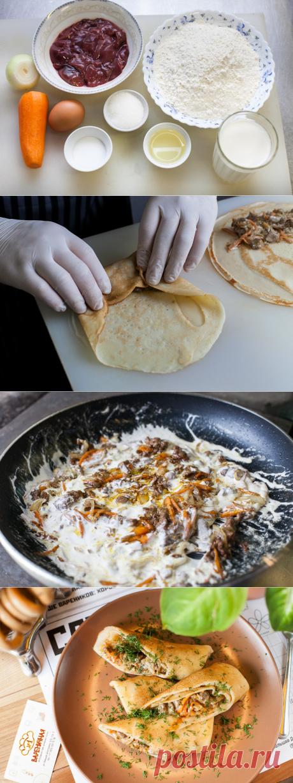 Блины с куриной печенью и морковью - рецепт - как приготовить - ингредиенты, состав, время приготовления - Леди Mail.Ru