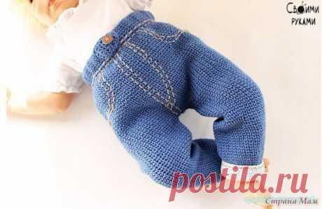 Вяжем штанишки спицами Вяжем штанишки спицами для ребенка. Описание вязания детских штанишек спицами.