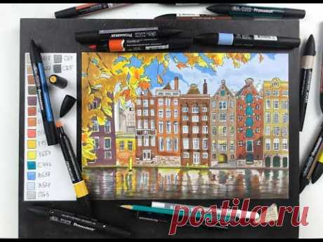 Мастер-класс по скетчингу маркерами «Амстердам»
