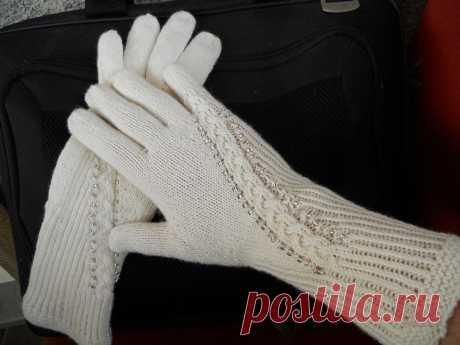 Вяжем перчатки спицами | Рукоделие | Яндекс Дзен