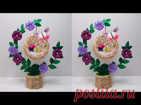 Ide Kreatif Hiasan Meja Tali Rami | Hiasan meja sangkar burung | Home decorate craft ideas