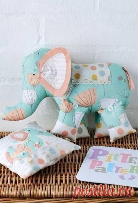 Слоники - забавные подушки-игрушки: выкройки — Сделай сам, идеи для творчества - DIY Ideas