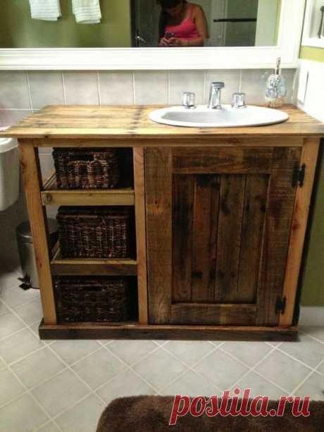 31+ Impressive DIY Rustic Farmhouse Bathroom Vanity Ideas