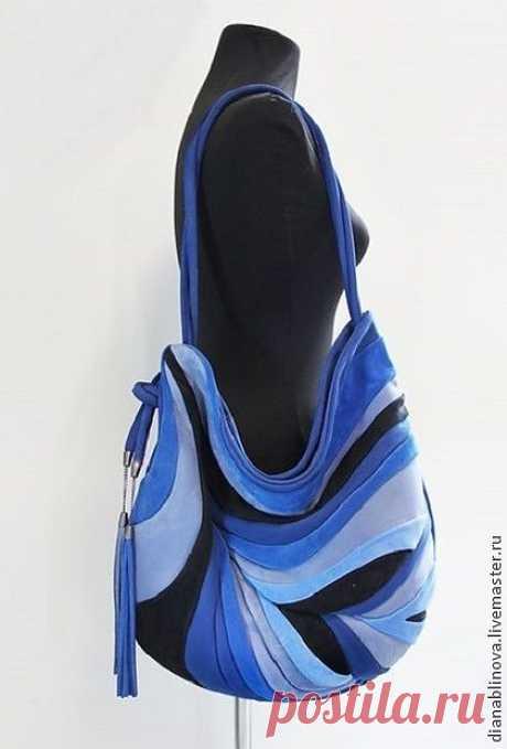 """""""Перо Антик"""" - серебряный,однотонный,сумка кожаная,сумка коричневая,подарок женщине"""