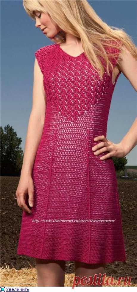 Ажурное платье крючком / Rockin Red Dress.