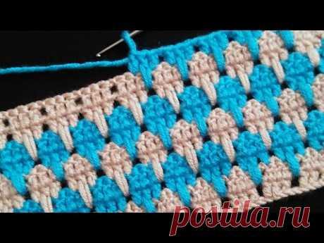 İki renkli battaniye & çanta örgü #dıy #knitting #örgümodeli