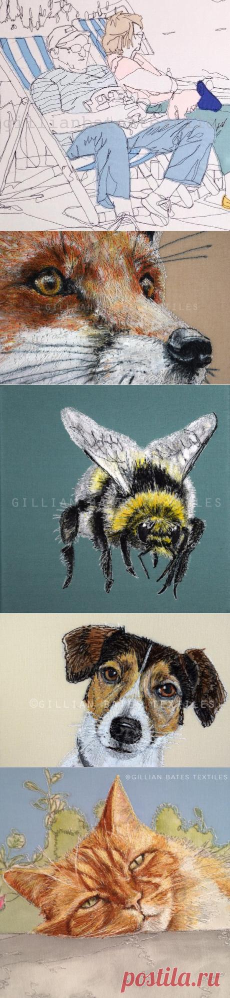 Вдохновлённая природой: текстильный художник Gillian Bates