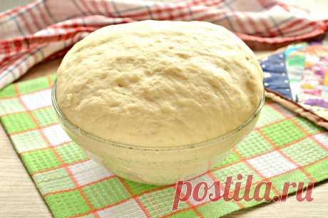 Дрожжевое тесто для пирогов на кислом молоке - пошаговый кулинарный рецепт приготовления с фото, шаг за шагом.