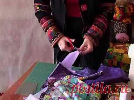 ▶ Лоскутное шитье для начинающих. Техника Колодец - YouTube