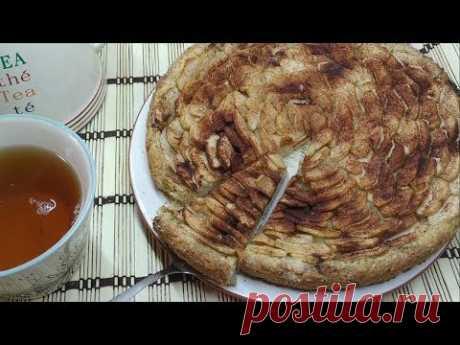 Постный пирог с яблоками. Делаем песочное тесто с растительным маслом без яиц - YouTube