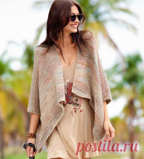 Multi-colored jacket poncho - the scheme of knitting by spokes. We knit Jackets on Verena.ru