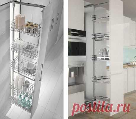 Кассетная система хранения в виде выдвижных и выкатных стеллажей-колонн, виды и нюансы проектирования | Мебель своими руками | Яндекс Дзен