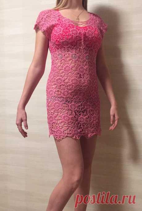 Пляжное платье ,,Лиллит,, 46-48р. Из импортной хлопковой нити.Есть в наличии.Тянется и идеально садится по фигуре,нигде не сковывает. Незабываемый образ для вас. Вяжу так же на заказ 10-15 дней.