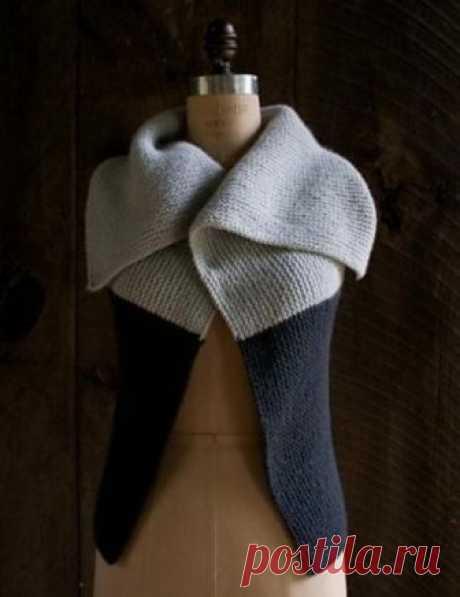Чудесная накидка на каждый день (Вязание спицами) — Журнал Вдохновение Рукодельницы