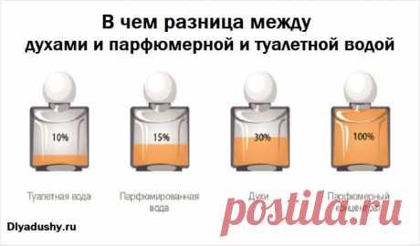 В чем разница между духами и парфюмерной и туалетной водой.  Полезная информация !  Я впечатлен!!! Буду помнить об этом всегда! И не дам себя обмануть хитрым консультантам !!!