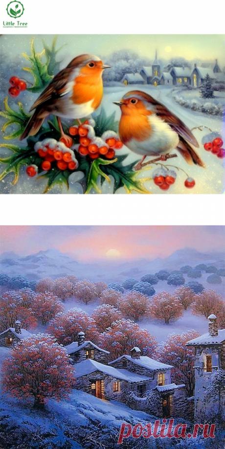 Зимние и Новогодние алмазные вышивки на Алиэкспресс — Алиэкспресс Обзор
