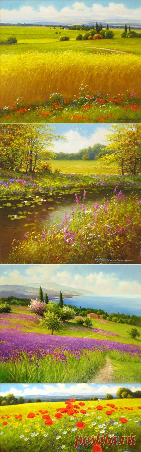 Художник Gerhard Nesvadba. Прекрасные пейзажи