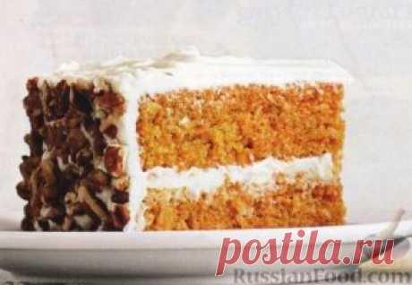 Рецепт: Морковный торт с сырным кремом на RussianFood.com