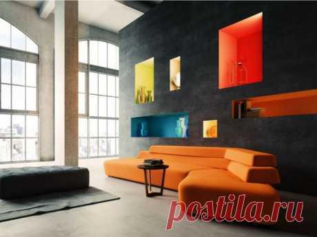 Ниша в гостиной - 65 фото практичного и функционального дизайна
