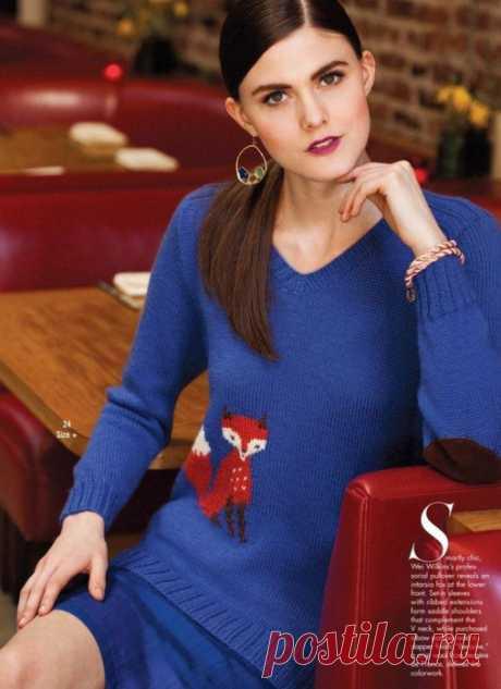 Пуловер с лисичкой