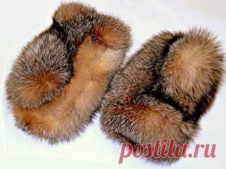 Меховые варежки | Варежки из меха норки своими руками